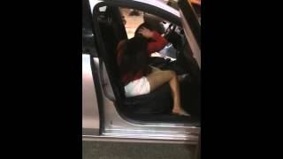 Drunk Girl Tries To Hijack An Uber and Destroys His Car #MGTOW