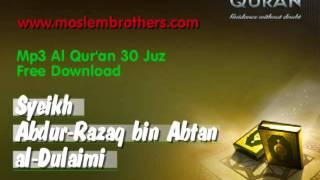 Mp3 Quran 30 juz Abdur-Razaq bin Abtan al-Dulaimi