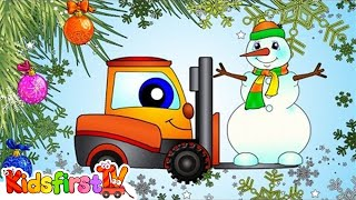 THE SNOWMAN Cartoon! Christmas Railway Train Locomotive & Construction Machines!