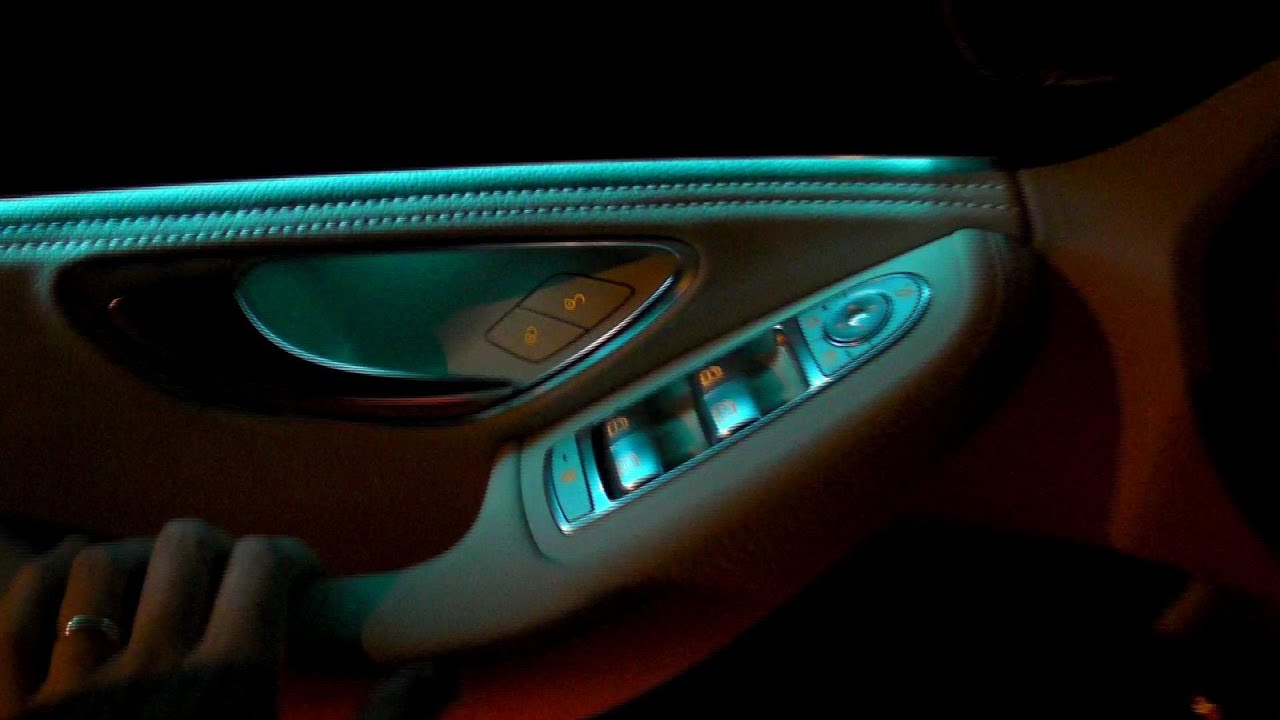 2017 Mercedes C Class W205 Ambient Light Interior Led Lights Review Presentation C200 C300 C400 You