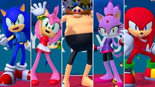 All Team Sonic Characters (Swimming) - Mario & Sonic at the Olympic Games Tokyo 2020