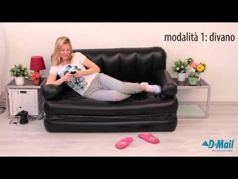 Letto Gonfiabile Dmail.Divano Gonfiabile 5 Funzioni In 1 Youtube