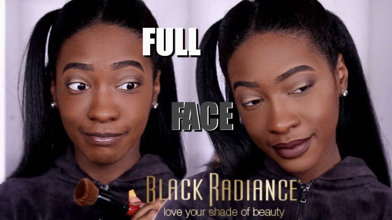 Trying A Full Face Of Black Radiance Makeup Youtube