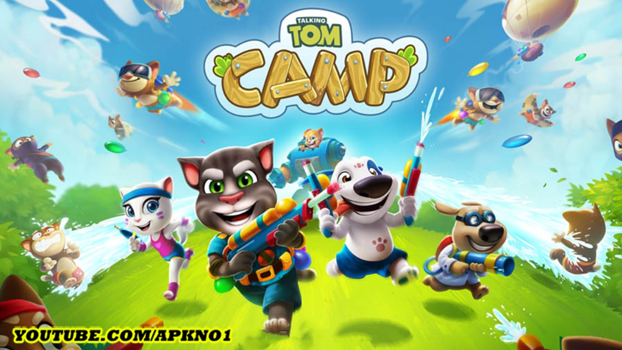 Talking Tom Camp Android Gameplay Ep 1 Youtube