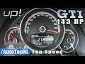 VW UP GTI Elmerhaus 143HP STAGE 1 | 218km/h ACCELERATION & TOP SPEED by AutoTopNL