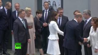 William and Kate visit Warsaw Rising Museum in Poland