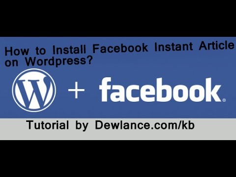 How to setup facebook instant article for facebook   Step by Step