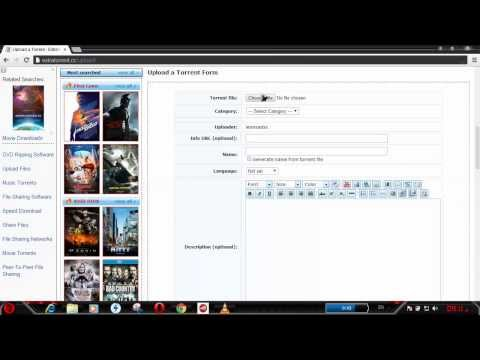 how upload file in extratorrent