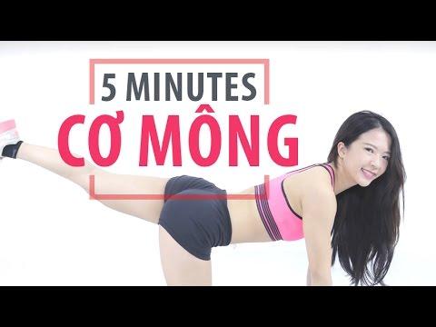 5 MINUTES SERIES Cơ Mông   Hana Giang Anh   Workout #28
