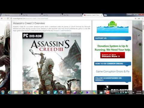 HOW TO DOWNLOAD AND INSTALL ASSASSINS CREED 3 IN YOUR PC