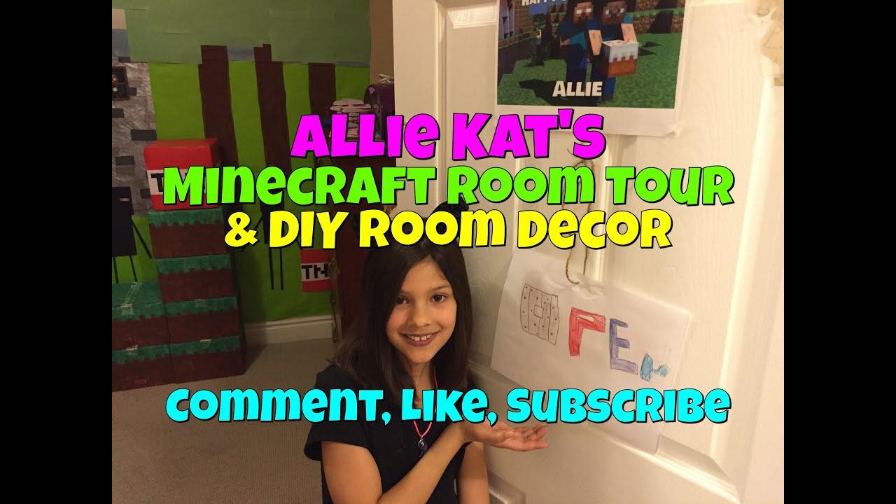 Minecraft Room Tour Diy Room Decor Youtube