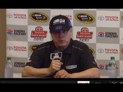 Media interview at Sonoma with winner Tony Stewart, Gene Haas, & Mike Bugarwicz - Let's Talk Racing