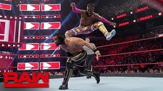 Rollins vs. Kingston - Universal Champion vs. WWE Champion Winner Take All Match: Raw, Apr. 8, 2019