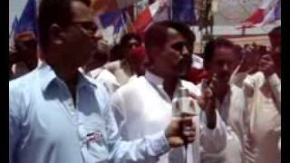 Muzafar Kalhoro Addresses Protest  Rally at Sukkur (part-1)