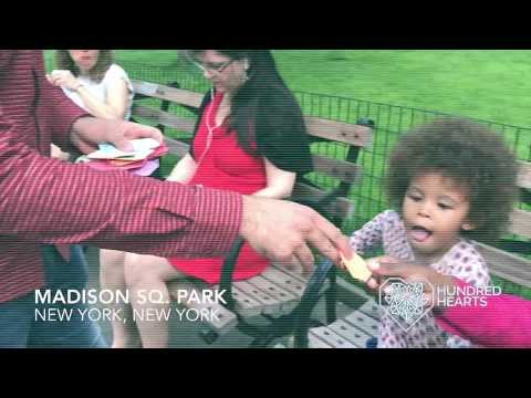 Baruch College Students Make Origami Hearts in NYC