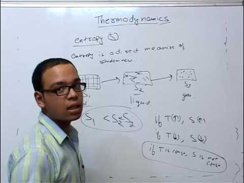 Entropy, free energy - Thermochemistry part 13 | Chemistry Engineering Entrance Preparation