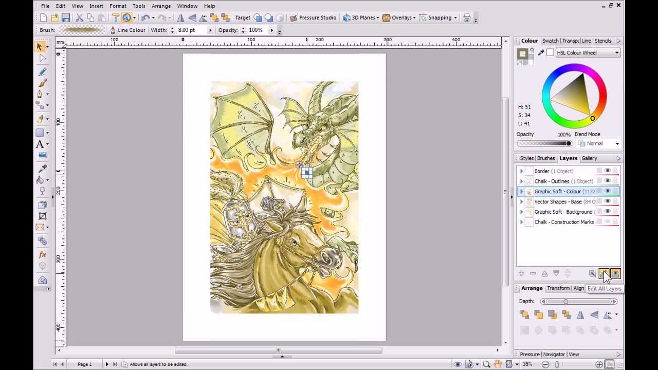 Serif Drawplus X6 Tutorial Working With Layers Youtube