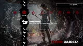 FREE Tomb Raider PS3 Alpha Slideshow Dynamic Theme
