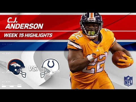 C.J. Anderson Gallops for 158 Yards on 30 Carries! 🐎 | Broncos vs. Colts | Wk 15 Player Highlights