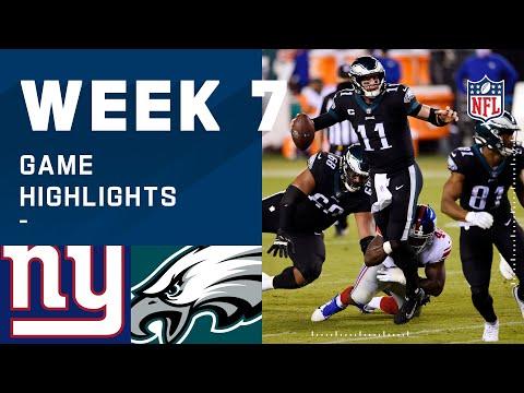 Giants vs. Eagles Week 7 Highlights   NFL 2020