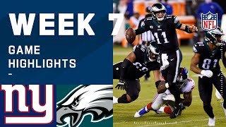 Giants vs. Eagles Week 7 Highlights | NFL 2020