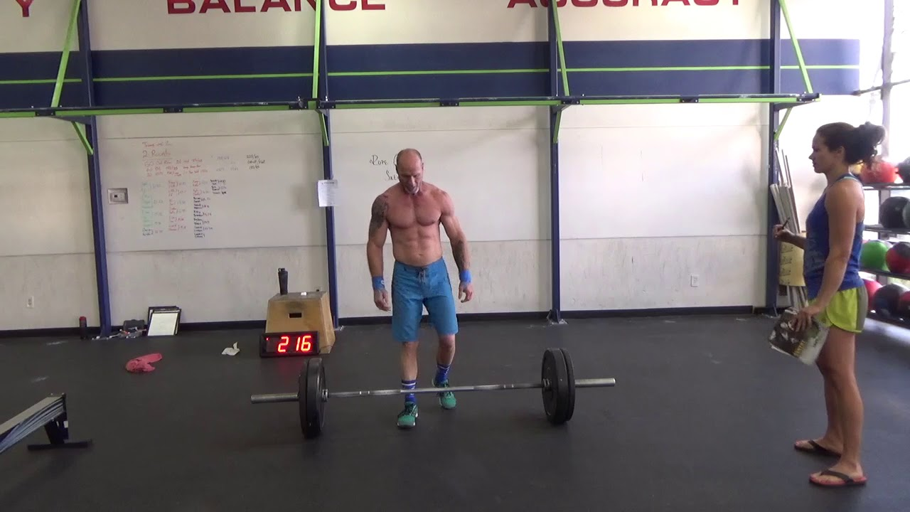 Dennis Cole Masters 55 2018 Crossfit Games Agoq Workout 2 Youtube