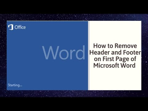 How to Remove Header and Footer on First Page of Microsoft Word 2010