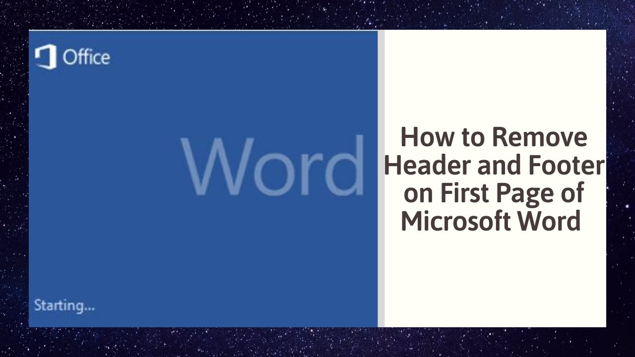 How to remove header and footer on first page of microsoft word how to remove header and footer on first page of microsoft word 2010 ccuart Image collections