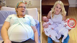 She Gave Birth To Quadruplets. Then Doctors Saw Her Babies' Faces… It Was One In 15 Million