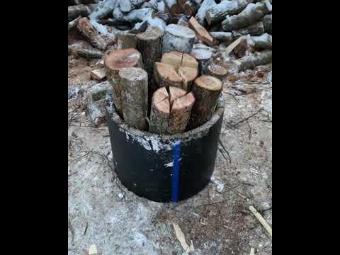 Простой способ колки дров, дровокол!