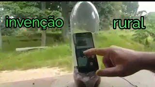 Antena rural de garrafa pet  para celular onde não Há rede !