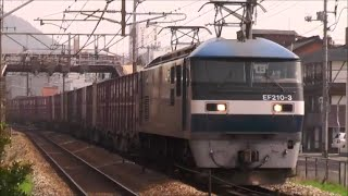 尾道駅付近にて EF210-3(岡山機関区所属)牽引の、貨物列車61レです。 撮...