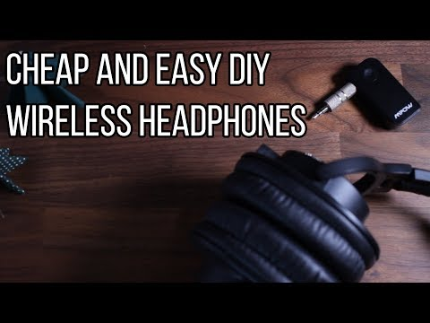 How To DIY Wireless Headphones - EASY And CHEAP - MPOW Bluetooth Receiver
