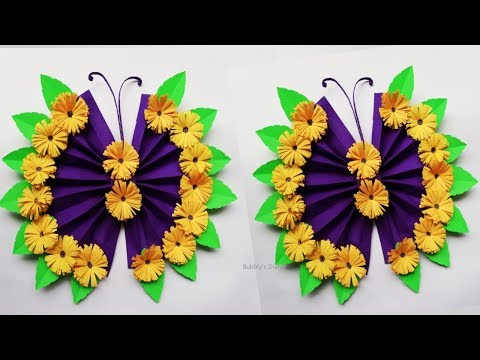 Paper Butterfly Wall Art - Wall Hanging Craft Ideas - DIY Butterfly Wall Decor - Paper Crafts