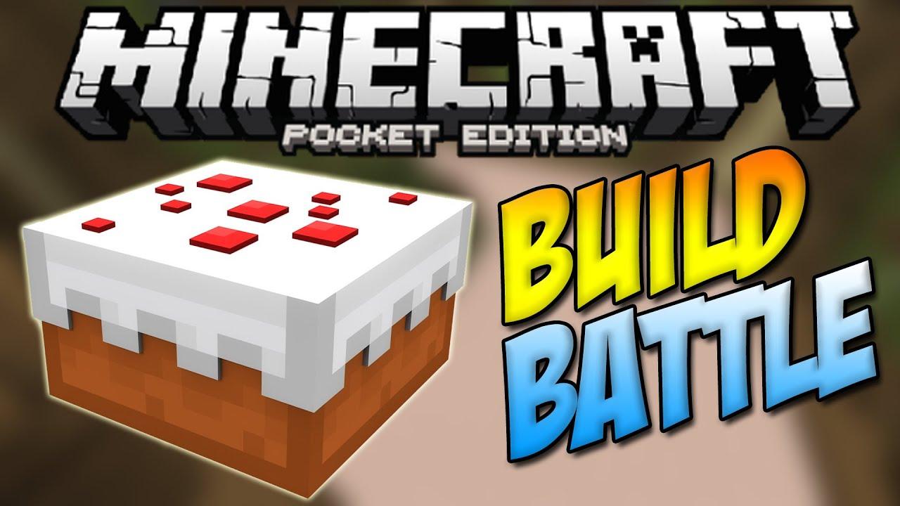 0111 YUMMY CAKE BUILD BATTLE MINIGAME Minecraft Pocket