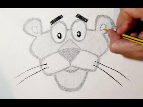 Como Desenhar A Pantera Cor De Rosa Passo A Passo Youtube