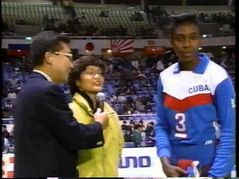 '92 Super 4 : Mireya Luis interview Volleyball : Gold medal