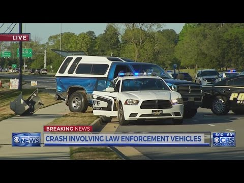 Police chase ends in 3-vehicle accident in Raleigh