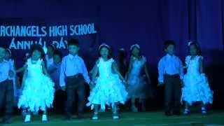 Archangels Annual Day 2014 -  Dance by UKG - Aaj Blue Hai Pani Pani