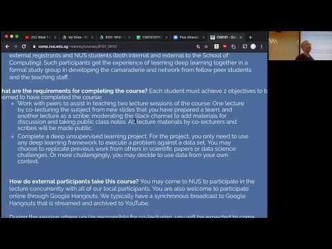 CS6101 - Deep Unsupervised Learning