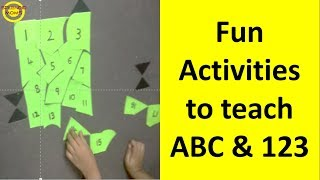 ABC 123 सिखाने के लिए Fun Activities || DIY Fun activities to teach ABC 123 to preschoolers