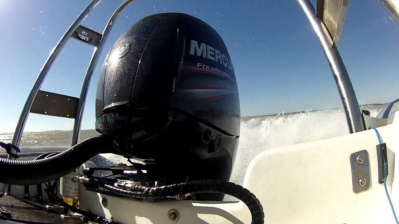 Mercury 150hp four stroke outboard sound