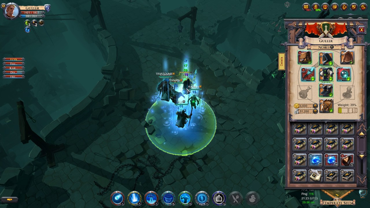 [Albion Online] PvE Farm AoE dungeon - Frost Mage 1H