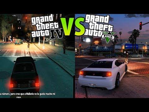 GTA IV vs GTA V - Comparando las diferencias?  ¿Cuál es mejor? | GTA 4 vs GTA 5 #1