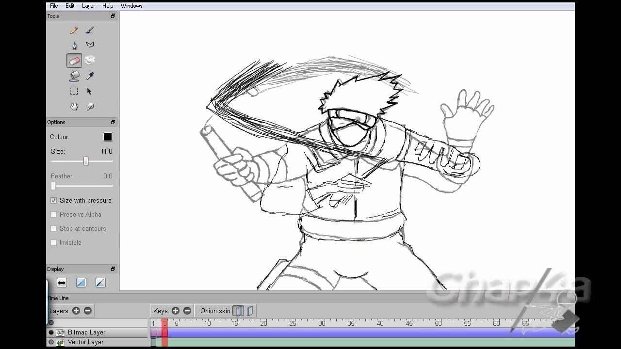 Kakashi Animation using Pencil Program - YouTube