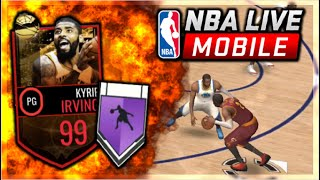 NBA LIVE MOBILE | 99 KYRIE IRVING GAMEPLAY | 99 DRIBBILING = 🧀ANKLE BREAKERS🧀