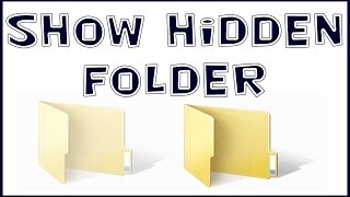 How To Recover Hidden Files Basic Trick View Hidden Files And Folder In Window 7 In Your Computer