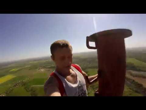 780 Feet radio tower climb in Lithuania