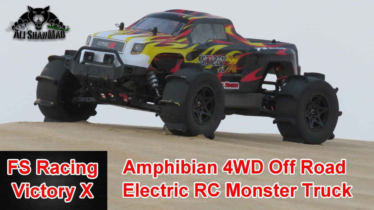 Fs Racing Victory X Amphibian 4wd Electric Rc Monster Truck Youtube Radio Controlled Motor Switch R C