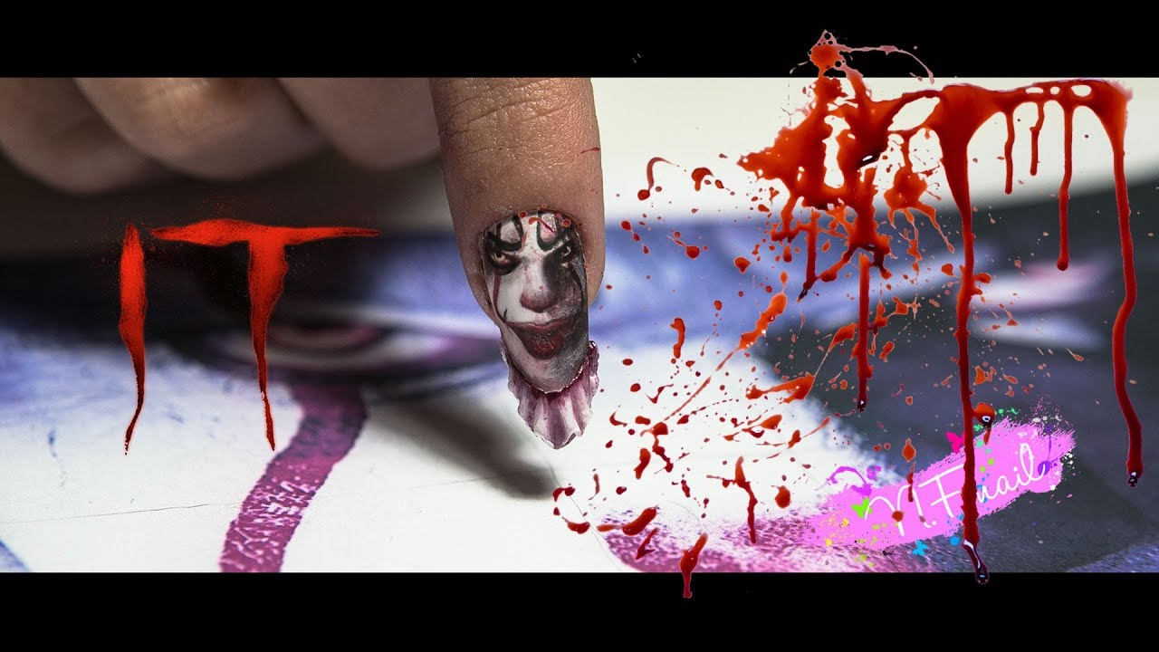 Nail Art Project (It Movie) - YouTube